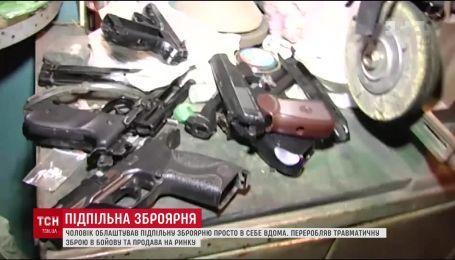 Підпільний цех із виробництва вогнепальної зброї викрила поліція у Полтаві