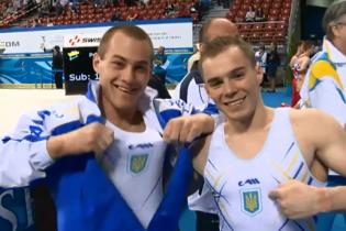 Украинские гимнасты Верняев и Радивилов добыли серебряные медали на чемпионате мира