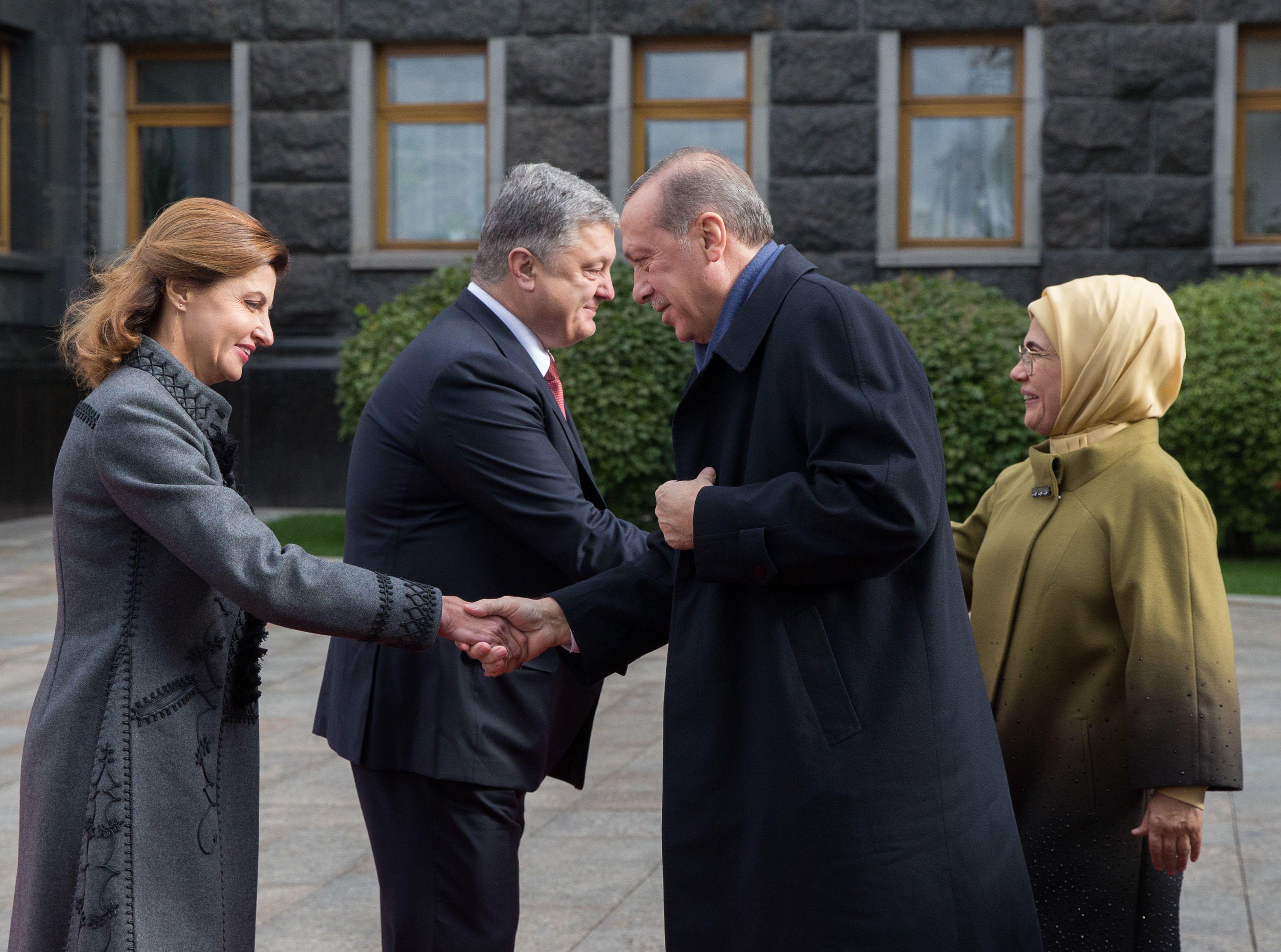 Марина Порошенко,  Петр Порошенко, Тайип Эрдоган, Эмине Эрдоган_1