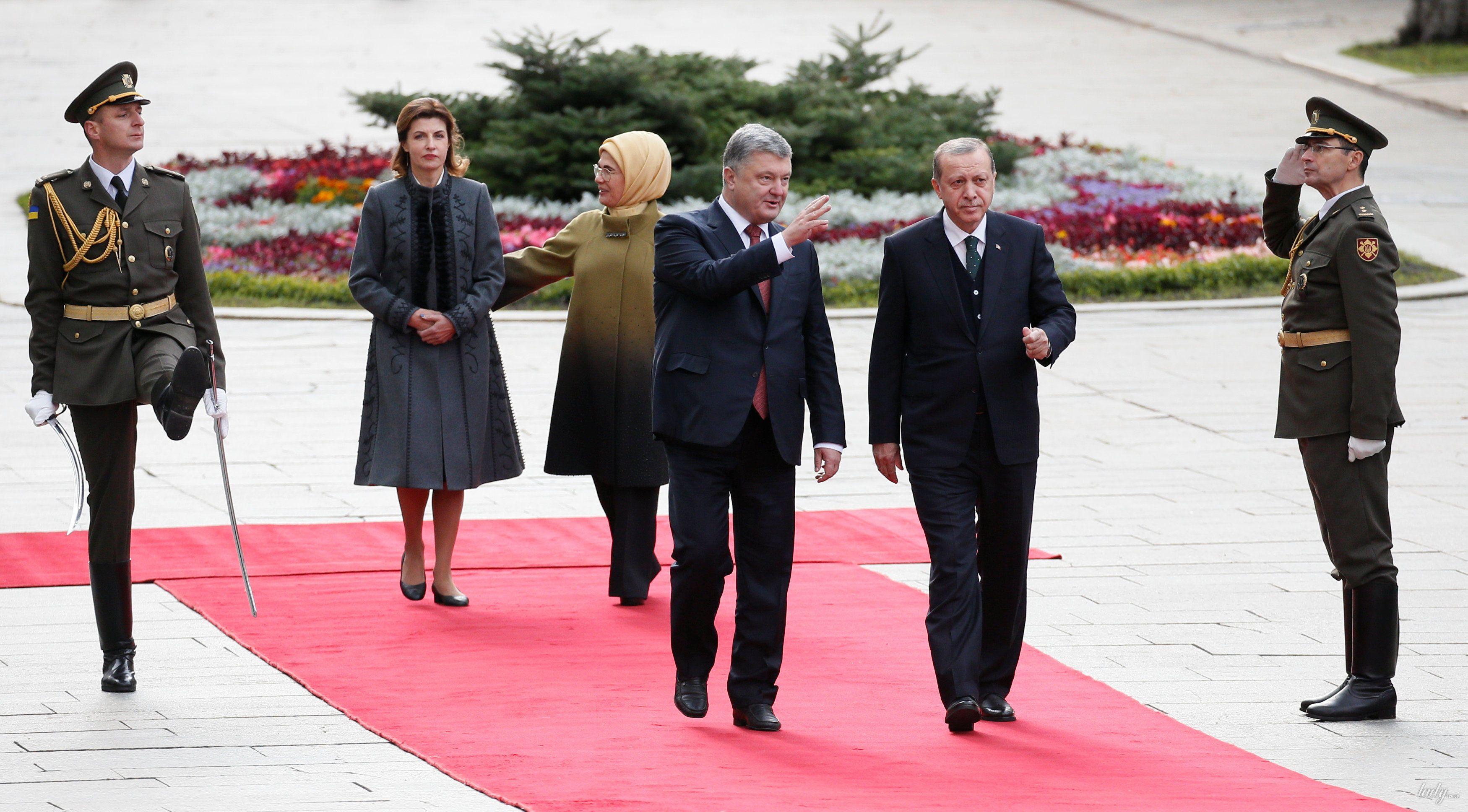 Марина Порошенко, Петр Порошенко, Тайип Эрдоган, Эмине Эрдоган_2