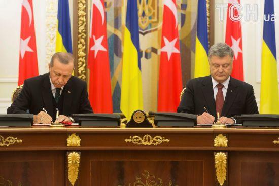 Ердоган і Порошенко домовилися вивести товарообіг між Україною і Туреччиною до 10 млрд доларів