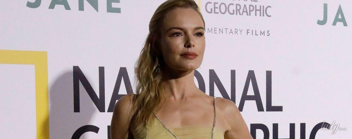 В желтом платье на желтой дорожке: Кейт Босуорт на премьере фильма в Лос-Анджелесе