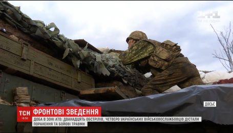 За добу на передовій було поранено і травмовано четверо українських бійців