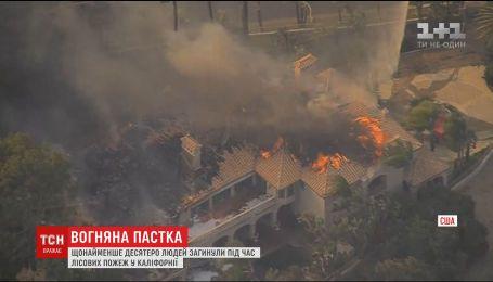 Щонайменше 11 людей загинули у лісових пожежах у Каліфорнії