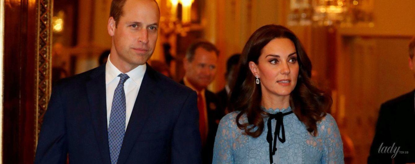 Долгожданный выход в свет: беременная герцогиня Кембриджская посетила прием в Букингемском дворце