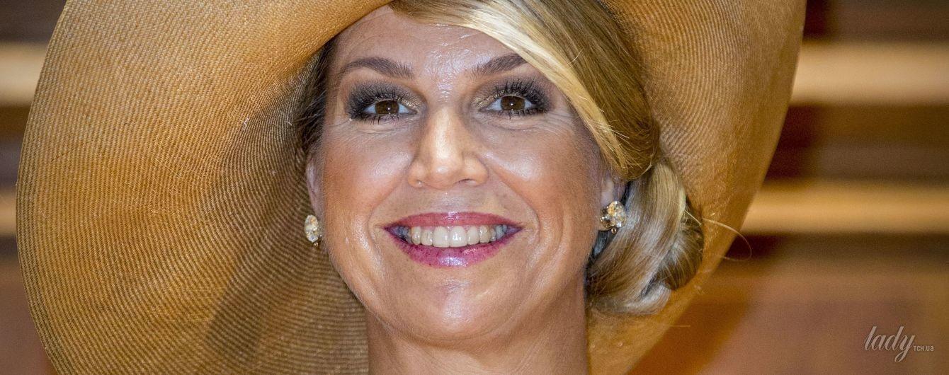 Как всегда, восхитительна: королева Максима на приеме у президента Португалии