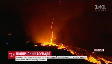 В Португалии городом пронесся ужасный огненный смерч
