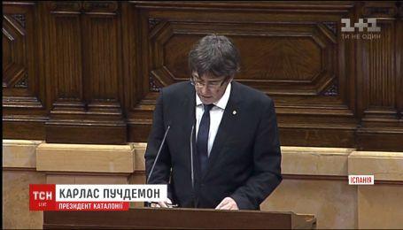 Президент Каталонии подписал декларацию о независимости