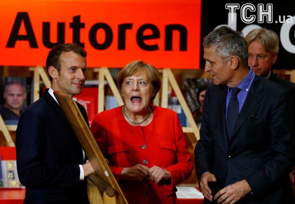 В Германии стартовала Франкфуртская книжная ярмарка. Открывали вместе Меркель и Макрон