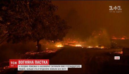 Вогняна пастка не відпускає Каліфорнію. У лісових пожежах загинули вже 15 людей
