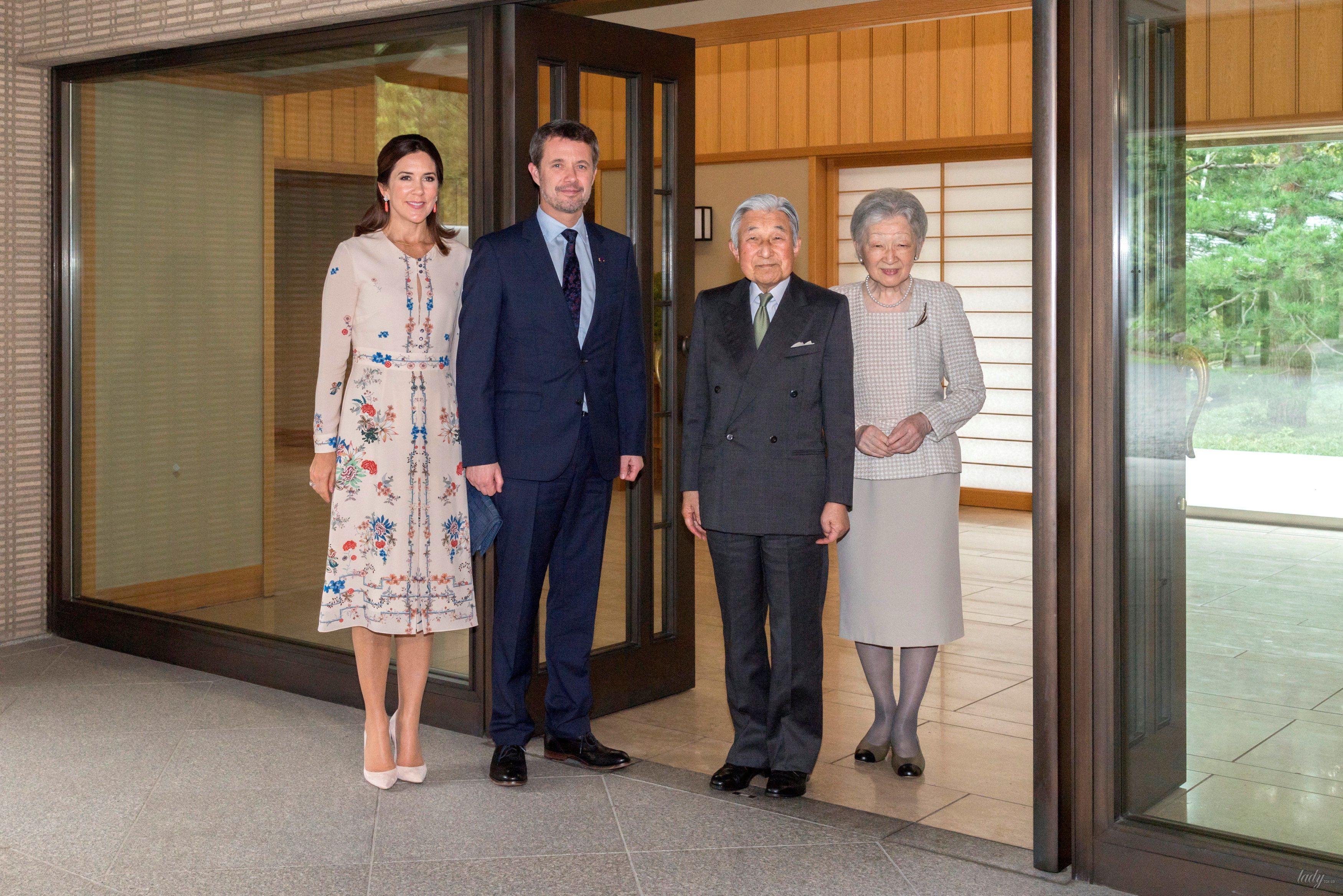 Кронпринц Дании Фредерик, кронпринцесса Мэри, японский император Акихито и императрица Митико_2