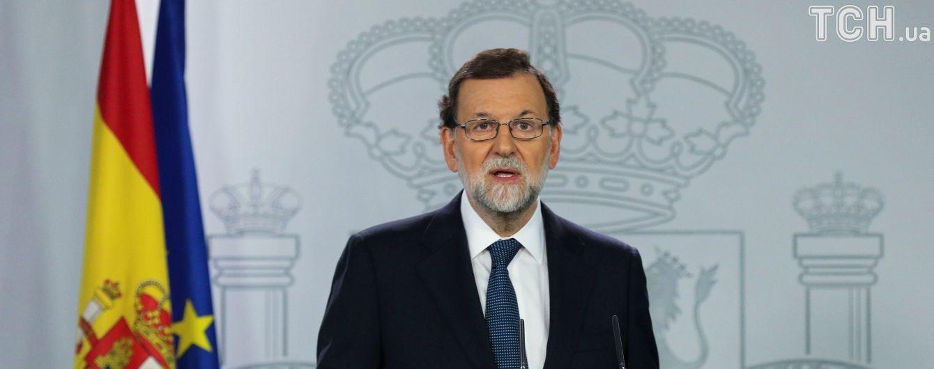 Прем'єр Іспанії відреагував на підписання декларації про незалежність Каталонії