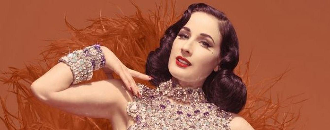 В роскошных блестящих костюмах: Дита фон Тиз похвасталась сексуальными образами