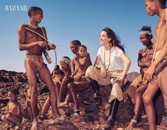 Анджеліна Джолі з гепардами_2