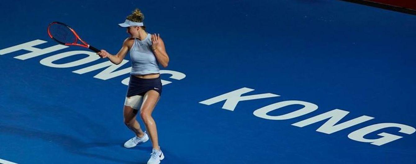 Лучшая теннисистка Украины Свитолина снялась с турнира в Гонконге