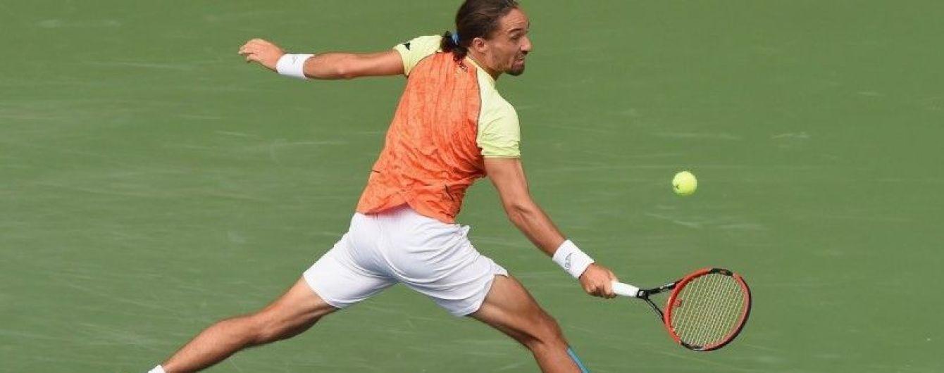 Украинец Долгополов потерпел поражение от Федерера и покинул турнир в Шанхае