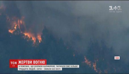 Лісові пожежі у Каліфорнії визнали найстрашнішими за всю історію штату