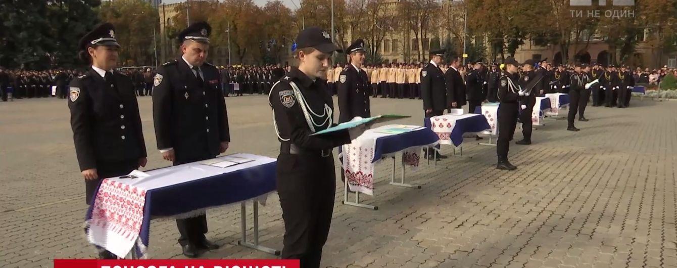 В академии МВД присягнули Украине почти тысяча курсантов