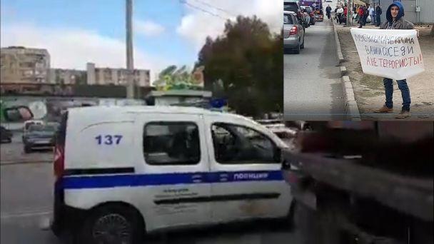 Полиция отпустила большинство задержанных участников одиночных пикетов против репрессий в Крыму