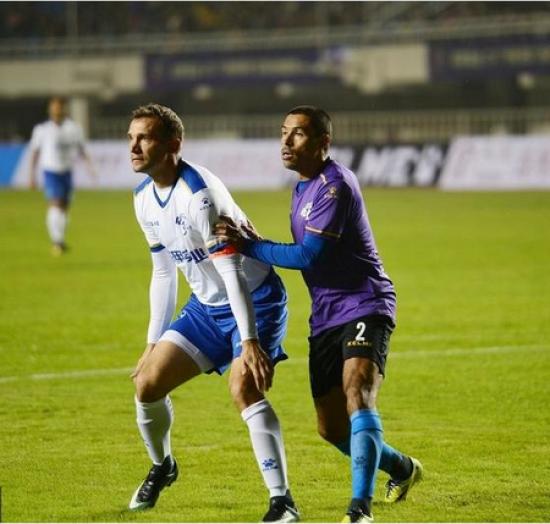 Шевченко взяв участь у товариській грі проти зірок світового футболу
