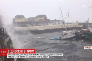 """Сотні тисяч осель в Ірландії лишились без світла через руйнівний шторм """"Офелія"""""""