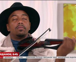 """Некласична класика: кросовер-скрипаль Деміен Ескобар зіграв у студії """"Сніданку з 1+1"""""""