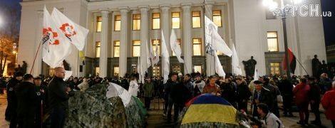 Организаторы митинга под Верховной Радой подвели промежуточные итоги протестов