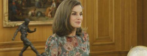 В красивом платье за 90 долларов: королева Летиция продемонстрировала новый демократичный образ