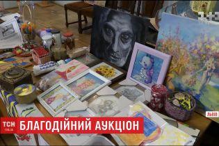 У Львові на благодійному аукціоні збирали гроші для родин полонених бійців АТО