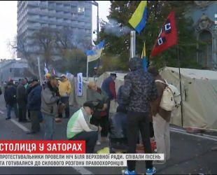 Керівник Національної поліції заявив, що не планує розгін мітингувальнків біля ВР