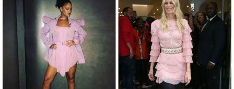 Битва розовых платьев: Рианна vs Клаудия Шиффер