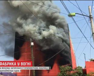 У Мексиці екстрено евакуювали десятки будинків через масштабну пожежу на фабриці матраців