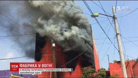 В Мексике экстренно эвакуировали десятки домов из-за масштабного пожара на фабрике матрасов