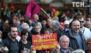 У Франції більше двадцяти тисяч осіб мітингують проти реформи трудового кодексу