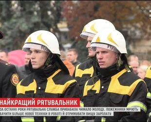 В Киеве определили лучших пожарных Украины