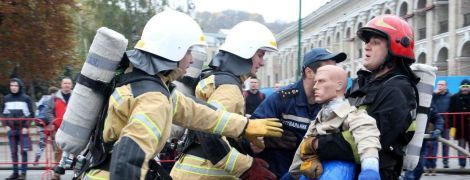 В Киеве определили лучших пожарных Украины: к финишу соревнований дошли не все