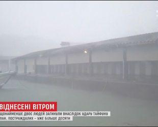 """Тайфун """"Лан"""" унес жизни не менее двух человек в Японии"""