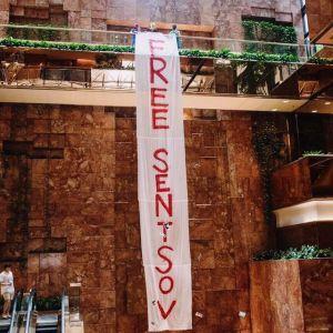 У Trump Tower в Нью-Йорку вивісили банер з вимогою звільнити Сенцова