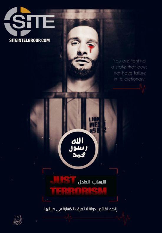 """""""ІДІЛ"""" пригрозила терактами на ЧС-2018 плакатом з Мессі, який плаче кров'ю"""