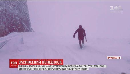 Более сотни населенных пунктов на западе Украины остаются обесточенными из-за урагана