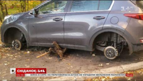 В Украине фиксируют все больше случаев кражи колес
