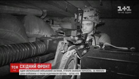 За минувшие сутки боевики 17 раз открывали огонь по украинским позициям