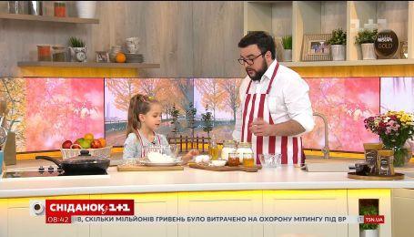 6-летняя Ульяна из Харькова приготовила сырники в прямом эфире
