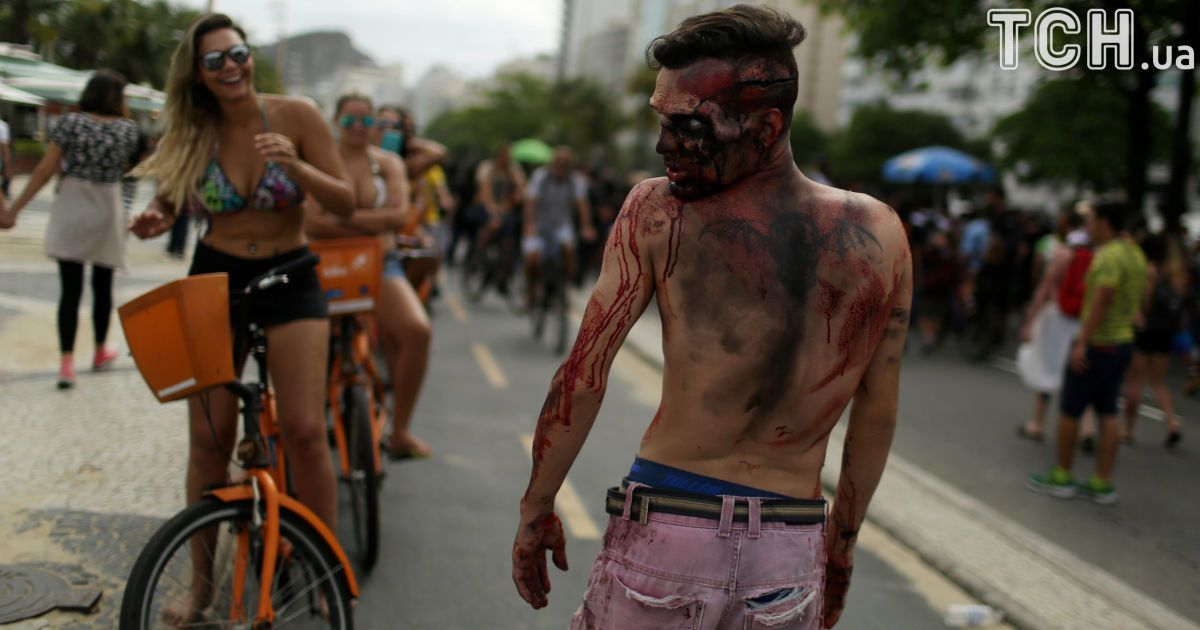 Шествие зомби в Рио-де-Жанейро @ Reuters
