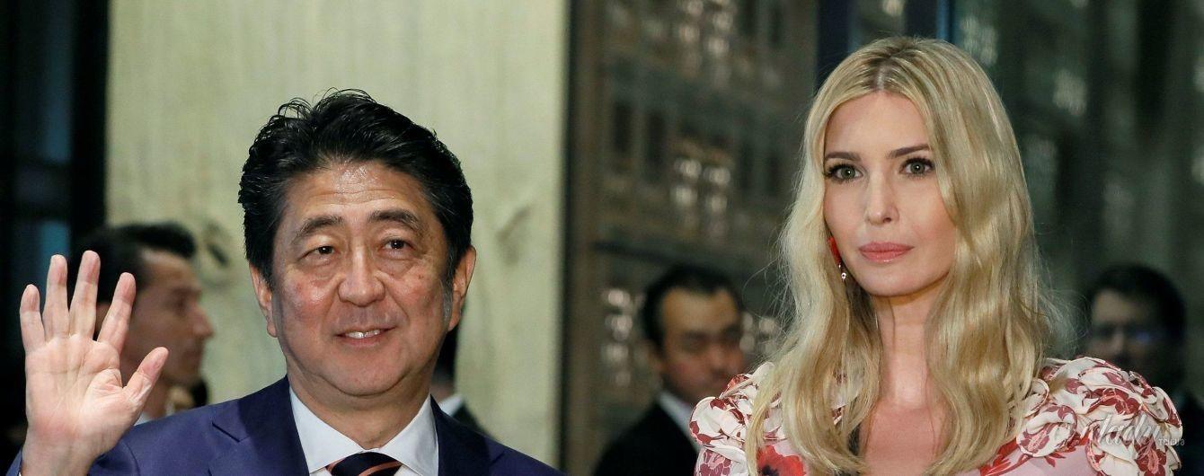 Иванка Трамп в красивом платье сходила в ресторан с премьер-министром Японии