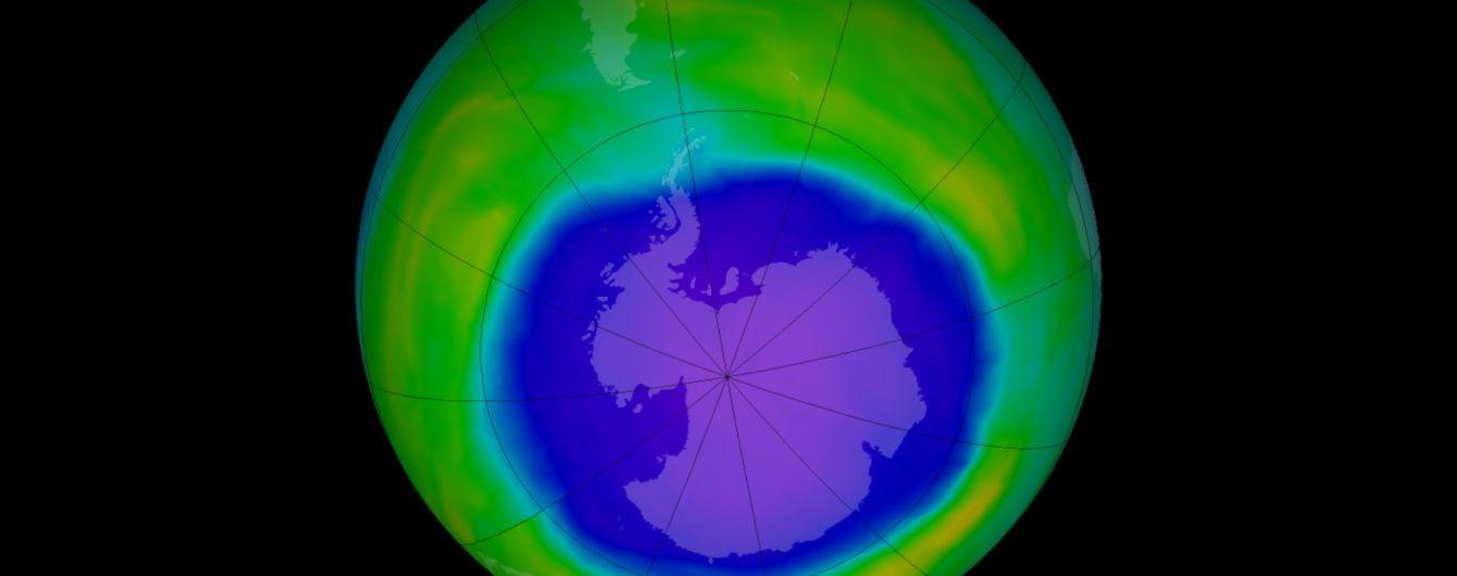 Вчені зафіксували рекордне скорочення озонової діри надАнтарктикою
