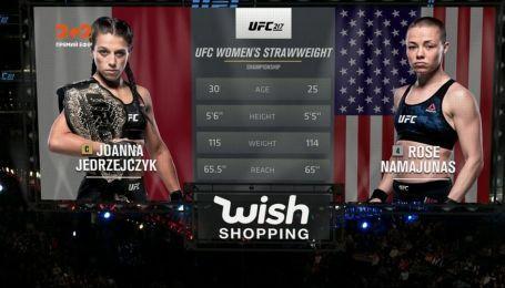 UFC. Джоанна Енджейчик - Роуз Намаюнас. Відео чемпіонського бою