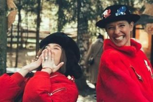 Катерина Осадчая и Мария Яремчук зажгли с гуцулами в Карпатах