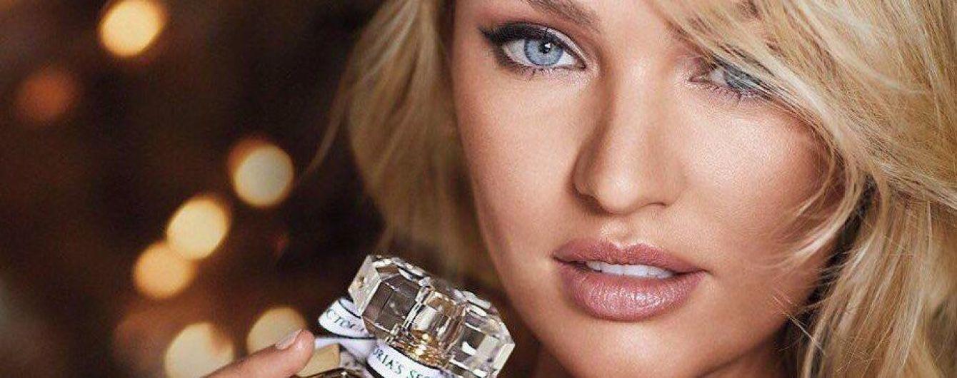 Блондинка в золотом бюстгальтере: Кэндис Свэйнпоул эротично рекламирует парфюм Victoria's Secret