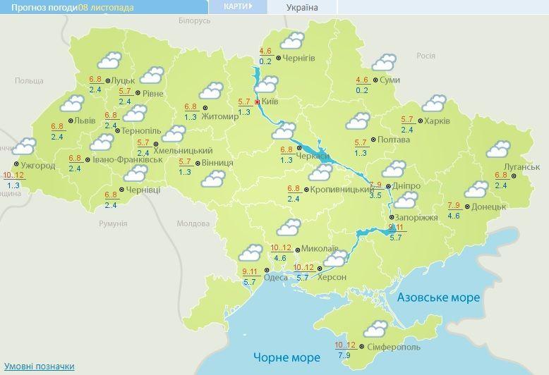 погода 08.11.2017